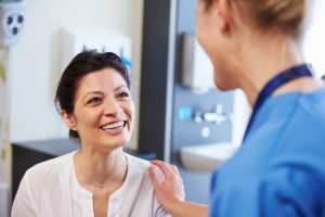 Clinician explains the components of inpatient rehab to a patient